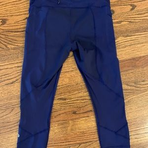 "lululemon athletica Pants & Jumpsuits - Lululemon Pace Rival Crop 22"" Blueberry Jam Sz 10"